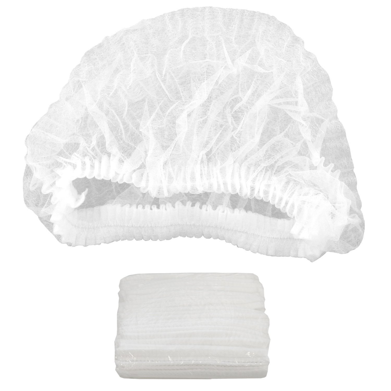 Disposable Hairnets Caterpillar Caps  (100 pack)