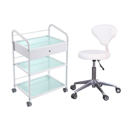 Medical Trolley and Stool